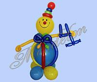 Клоун из шариков Степа с цифрой