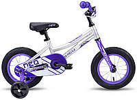 """Велосипед 12"""" Apollo Neo girls фиолетовый/белый 2018"""