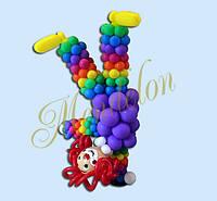 Клоун-перевертыш из шариков