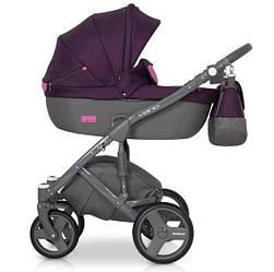Детская коляска универсальная 2 в 1 Riko Vario 04 purple (Рико Варио, Польша)