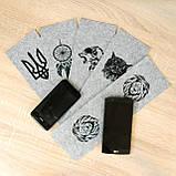 Фетр з принтом ТРИЗУБ, 10x32 см, корейська жорсткий 2 мм, фото 3
