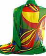 Яркая женская шаль, шифон, 190х135 см, Traum 2497-53, разноцветный., фото 2