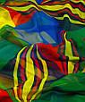 Яркая женская шаль, шифон, 190х135 см, Traum 2497-53, разноцветный., фото 3