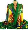 Яркая женская шаль, шифон, 190х135 см, Traum 2497-53, разноцветный.