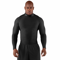 Рашгард с шеей и штаны Under Armour (андер армор), черный