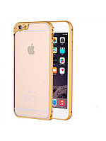 Алюминиевый бампер с защитой для камеры для iPhone 6/6S золотой