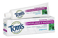 """Зубная паста для удаления налета и отбеливания зубов без фтора """"Перечная мята"""" Tom's of Maine, фото 1"""