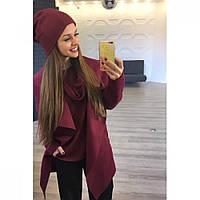 Пальто, свитер ,шапка +хамут (набор) -разные цвета