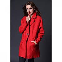 Пальто женское из кашемира красное 1503