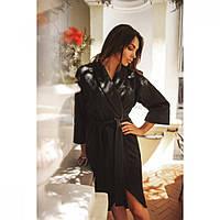 Пальто кардиган женское Шерстяное черное