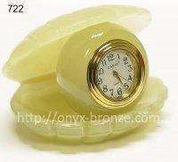 Ракушка  часы  из  оникса, фото 1