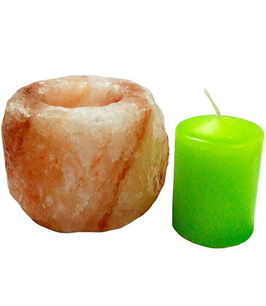 Гімалайська рожева сіль Свічник Циліндр для лазні та сауни