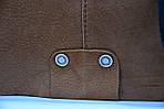 Кожаная сумка VS78 ginger 33х28х9 см, фото 3