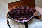 Кожаная сумка VS78 ginger 33х28х9 см, фото 5