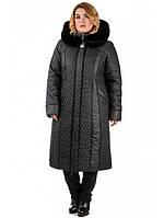 """Зимнее пальто большого размера """"Лиза"""", фото 1"""