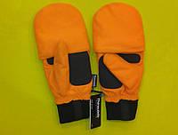 """Рукавички-варюшки зимові, утеплені REIS """"RDROPO PB"""" помаранчеві"""