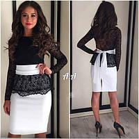 Женское платье 42-46р верх черный низ разные цвета длинна 90см