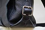 Кожаная сумка VS78 black 33х28х9 см, фото 3