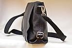 Кожаная сумка VS78 black 33х28х9 см, фото 4