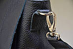 Кожаная сумка VS78 black 33х28х9 см, фото 6