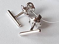 Серебряные пуссеты. Артикул 902-00911