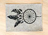 Фетр з принтом ЛОВЕЦЬ СНІВ, 33x25 см, китайський жорсткий 2 мм, фото 2