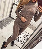 Вязаный костюм свитер+лосины, фото 1