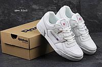 Кроссовки Reebok Workout Classica (белые) кожа, кожаные кроссовки Reebok Рибок