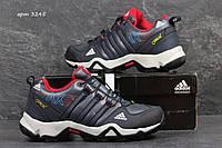Зимние кроссовки Adidas AX2 (темно синие с крассным) зима, зимние ботинки на меху