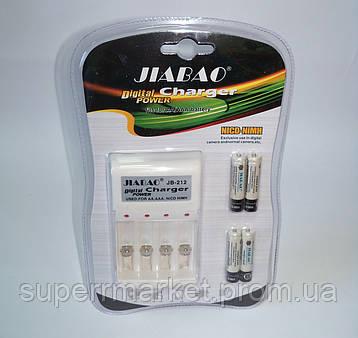 Набор, зарядное устройство Digital Power Charger Jiabao JB-212 NiCD-NiMH + 4 аккумулятора Ni-MH AAA по 2500mAh, фото 2