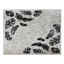 Фетр з принтом ПІР'Я, 33x25 см, китайський жорсткий 2 мм