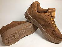 Кроссовки (40-45) кросівки, кеды, air force, коричневые замш
