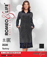 "Женский велюровый халат ""Romeo&Lifе"" Турция,батал"