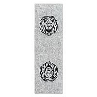 Фетр с принтом ЛЕВ, 10x32 см, корейский жесткий 2 мм