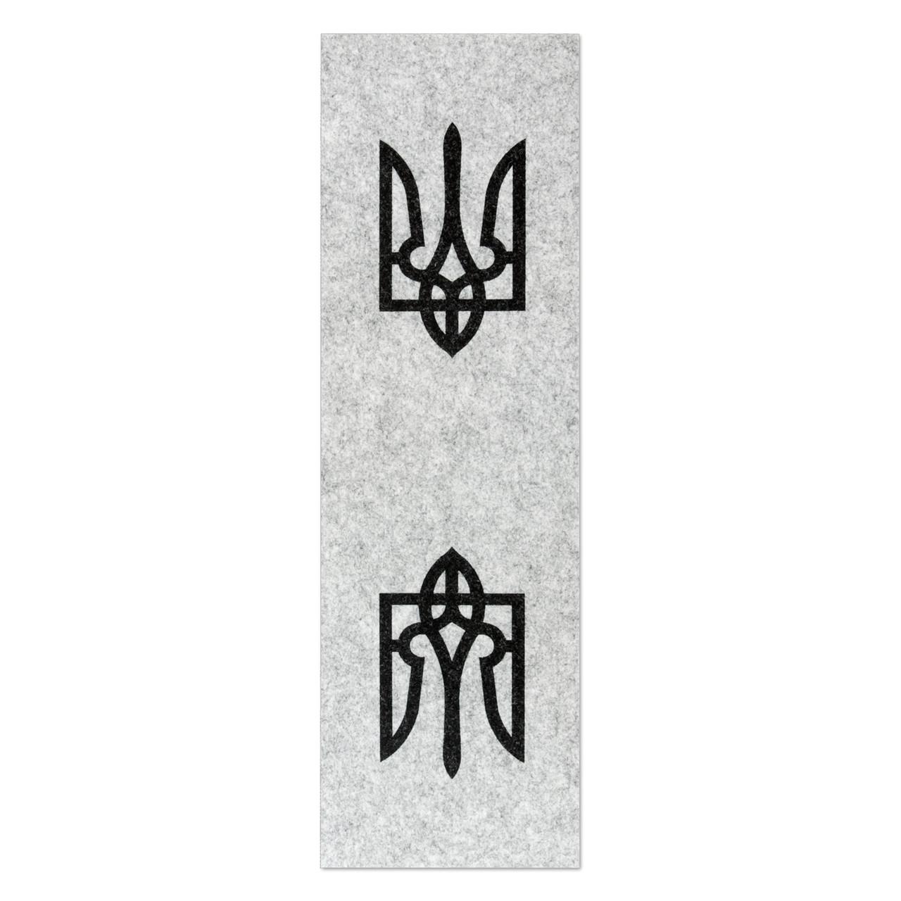 Фетр з принтом ТРИЗУБ, 10x32 см, корейська жорсткий 2 мм