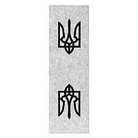 Фетр с принтом ТРИЗУБ, 10x32 см, корейский жесткий 2 мм