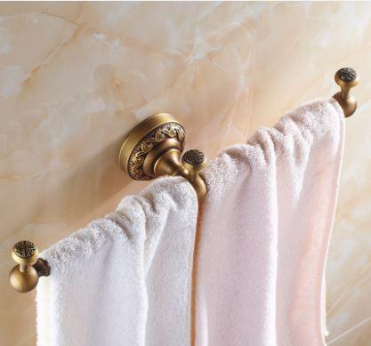 Вешалка для полотенец бронза настенная для ванной или на кухню 0456