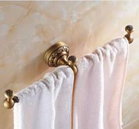 Вешалка для полотенец бронза настенная для ванной или на кухню 0456, фото 1