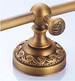 Вешалка для полотенец бронза настенная для ванной или на кухню 0456, фото 6