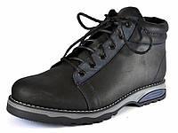 Зимние кроссовки больших размеров мужские с мехом кожаные Rosso Avangard Bridge BS SE Trend Black черные, фото 1