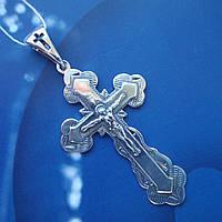 Серебряный крестик с распятием, 5 грамм