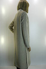 трикотажне пальто- кардиган з перлинками, фото 2
