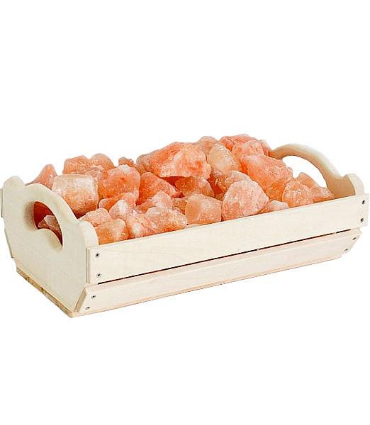 Гімалайська рожева сіль Ящик 10 кг для лазні та сауни