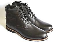 Большой размер кожаные зимние мужские ботинки Rosso Avangard. Falconi rhombus BS черные, фото 1