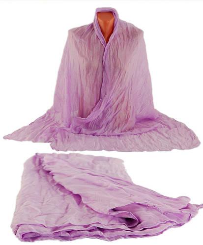 Однотонная легкая женская жатая шаль-парео, хлопок,150х80 см, Traum 2498-18, цвет сиреневый.