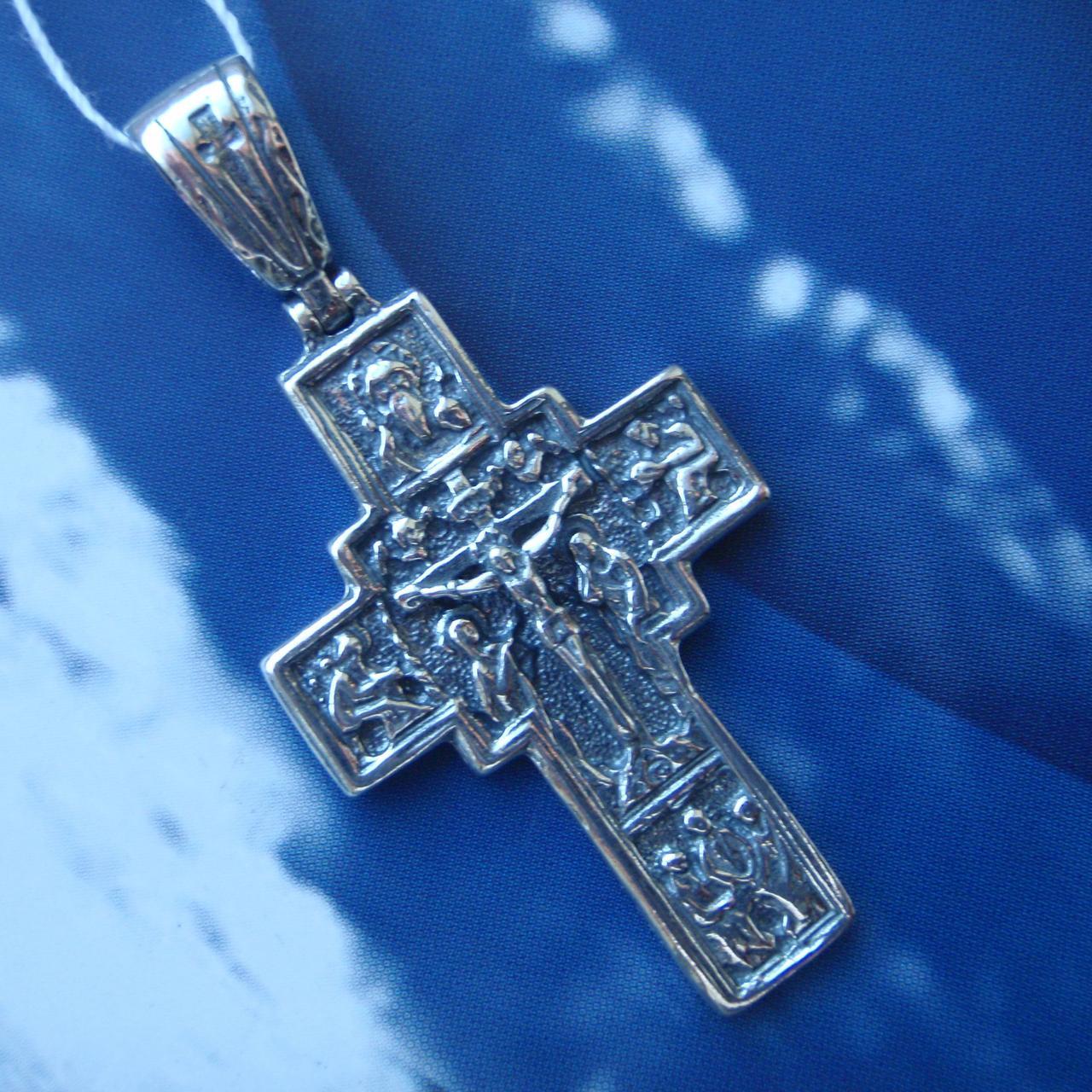 Серебряный крестик с распятием, 9,5 грамма