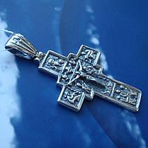 Серебряный крестик с распятием, 9,5 грамма, фото 3