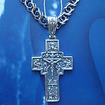 Серебряный крестик с распятием, 9,5 грамма, фото 2