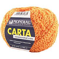 Пряжа Mondial Carta (Мондиаль карта 100% полиамид) цвет 943 оранжевый