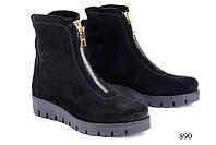 Женские ботинки замшевые короткие 890
